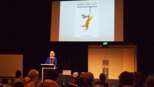 Nina Bruhns presenting her Save the Cat! workshop